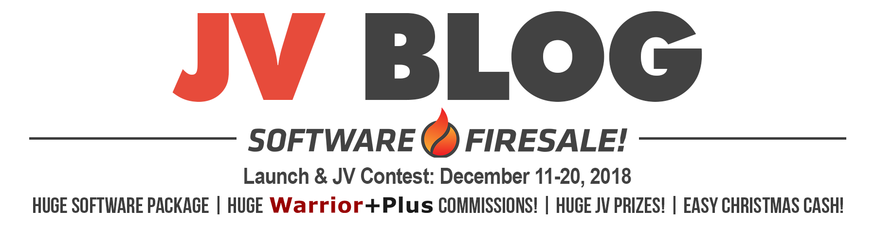Software Firesale | JV Blog header image